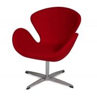 Кресло Swan Свон (кашемир) красный