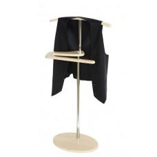Вешалка для одежды напольная стойка Адъютант дуб белёный