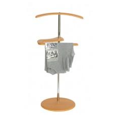 Вешалка для одежды напольная стойка Адъютант ольха