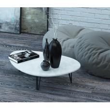 Журнальный столик Дадли белый бетон