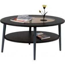 Журнальный столик Эль венге со стеклом