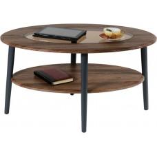 Журнальный столик Эль грецкий орех со стеклом