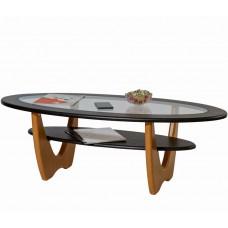Журнальный столик Юпитер венге ножки дуб со стеклом