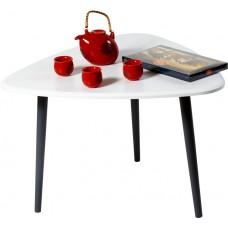 Журнальный столик Квинс белый