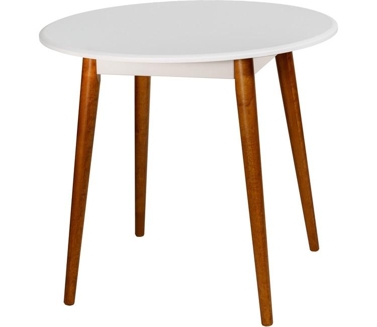 Стол ОРИОН обеденный нераздвижной круглый белый 80 см