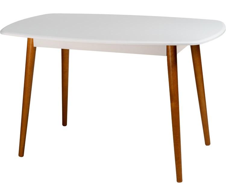 Стол ПЕРСЕЙ обеденный нераздвижной прямоугольный белый 80 см