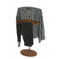 Вешалка для одежды напольная стойка Поручик орех