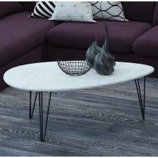 Журнальный столик Шеффилд белый бетон