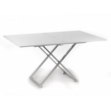 Levmar Compact белый стол-трансформер журнально-обеденный