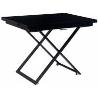 Levmar Compact черный глянец/черные опоры стол-трансформер журнально-обеденный