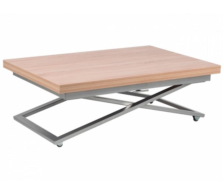 Стол трансформер журнально-обеденный Levmar Compact (Левмар Компакт) дуб сонома