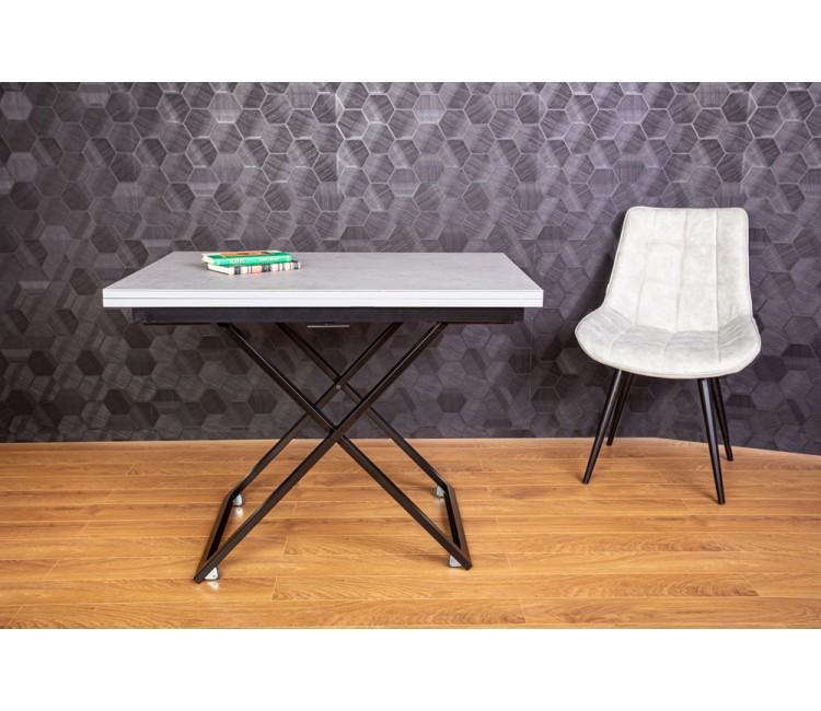 Стол трансформер журнально-обеденный Levmar Compact (Левмар Компакт) серый grigio матовый