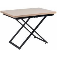Levmar Compact капучино глянец/черные опоры стол-трансформер журнально-обеденный