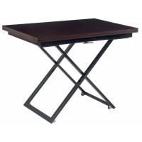 Levmar Compact венге глянец/черные опоры стол-трансформер журнально-обеденный