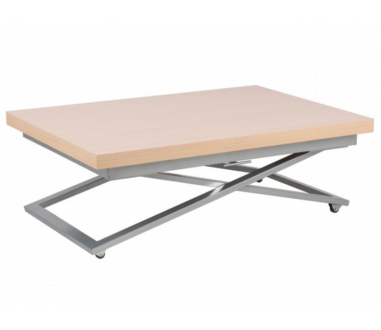 Стол трансформер журнально-обеденный Levmar Compact (Левмар Компакт) выбеленый дуб