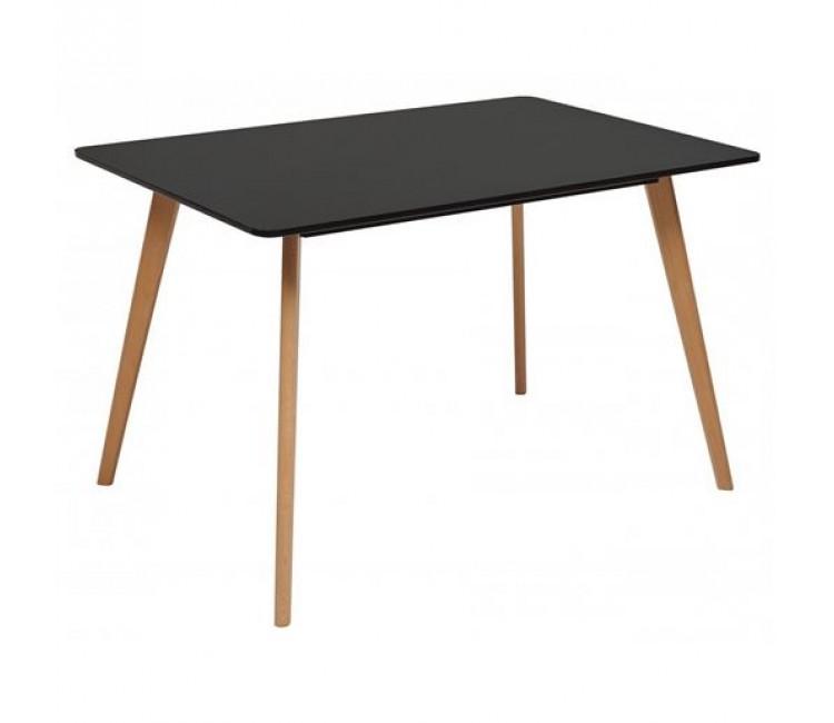 Стол обеденный нераздвижной ABELE черный/массив бука 120x80 см