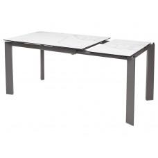 Стол обеденный раскладной CORNER Корнер 80x120(170) см испанский мрамор керамика + серый