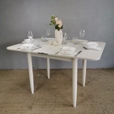 Стол Ломберный 80х60/120 лофт белый ноги конус белые кухонный обеденный раскладной