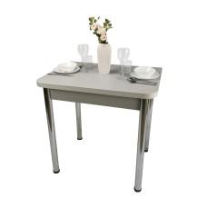 Стол Ломберный 80х60/120 лофт серый ноги хром кухонный обеденный раскладной
