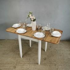 Стол Ломберный 60х60/120 дуб вотан ноги конус белые кухонный обеденный раскладной