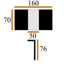 Стол Виста Монреаль 70х110 (160) беленый дуб/крем