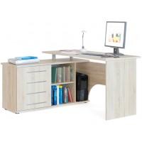 Компьютерный стол Тэкс Грета-16 левый дуб сонома