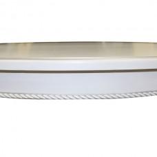 Стол Виста Венеция 102 (137) белый серебряная патина