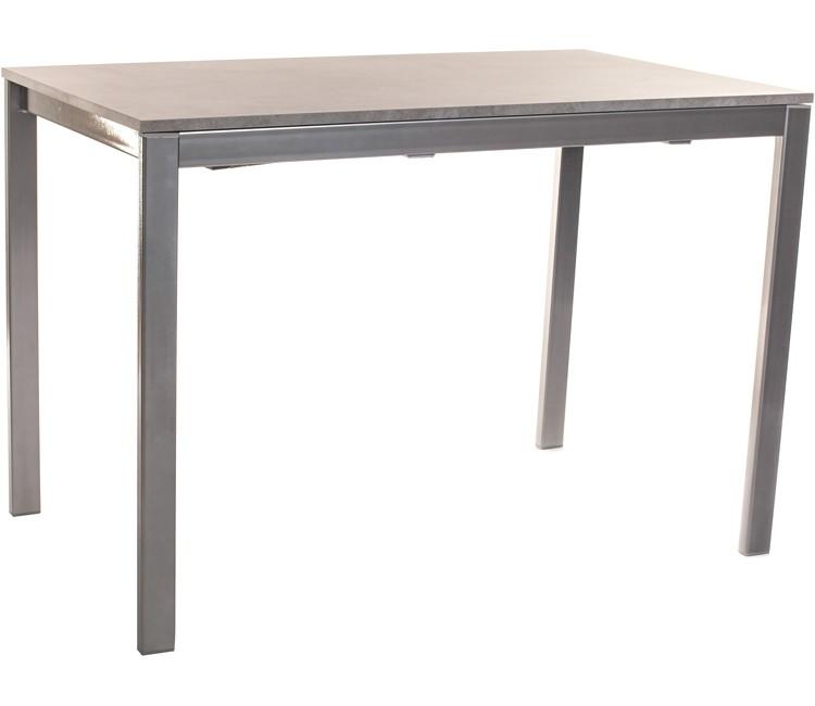 Стол обеденный для кухни раздвижной Виста АХЕН 68х110 (+50) бетон + сатин