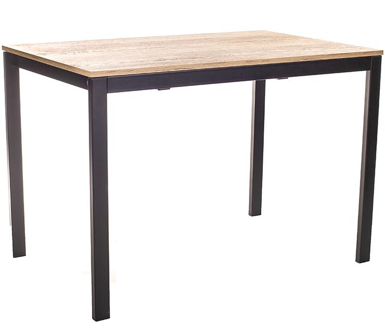 Стол обеденный для кухни раздвижной Виста АХЕН 68х110 (+50) дуб галифакс + черный