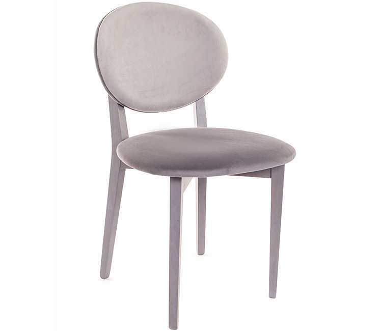Стул кресло Виста Эми дерево серое/2 цвета серый велюр