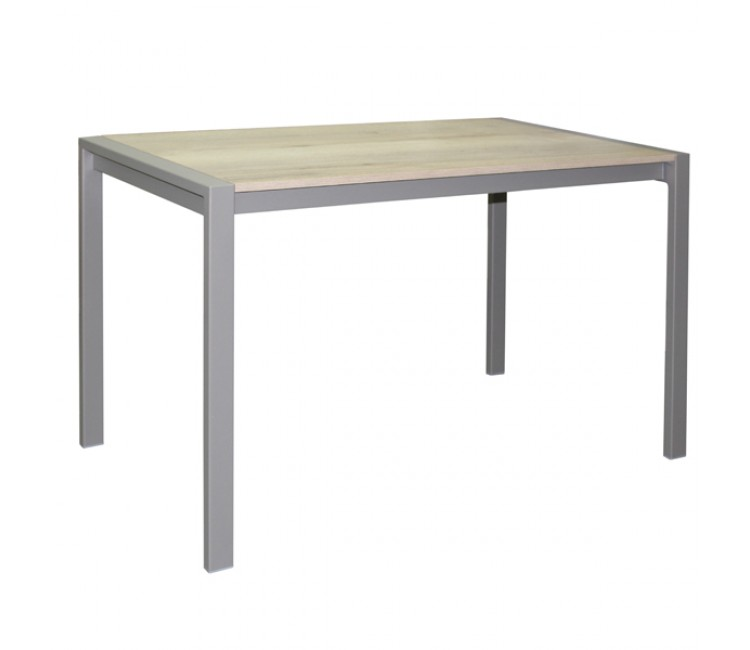 Обеденный раздвижной стол Виста Кобург 70х120 (160) дуб галифакс натуральный/муар тортора