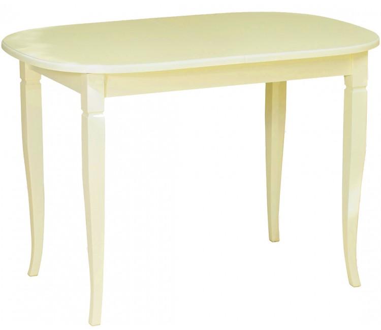 Стол кухонный обеденный Виста ЛИОН слоновая кость 80х120см