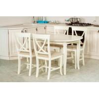 Стол Виста Лион 90х135 (180) белый