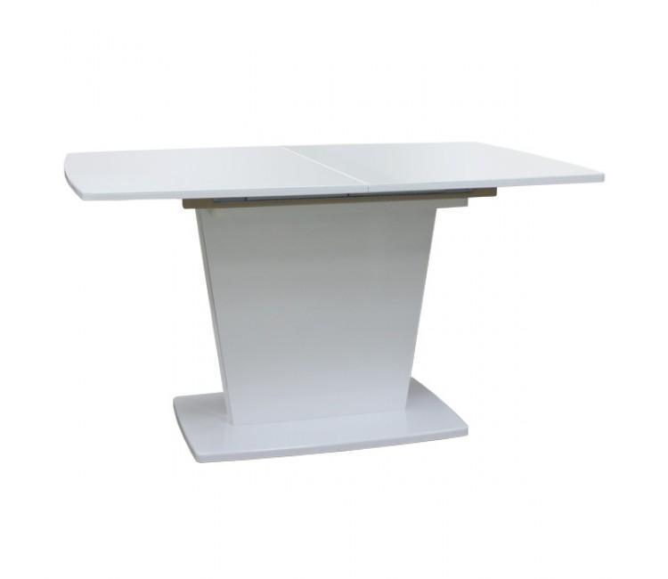 Стол обеденный раздвижной стекляный Виста Ливерпуль 90х140 (185) белый