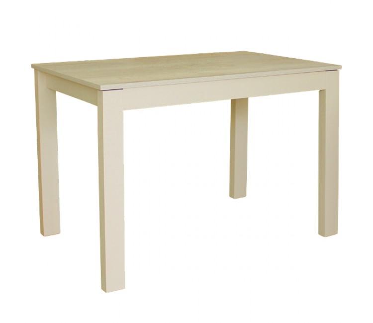 Стол кухонный обеденный раздвижной Монреаль 70х110 (160) беленый дуб/крем