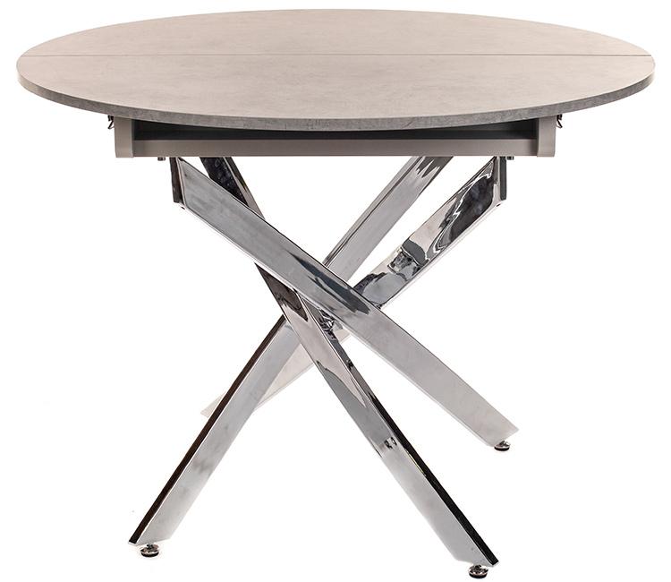 Стол обеденный Виста Онтарио хром/бетон