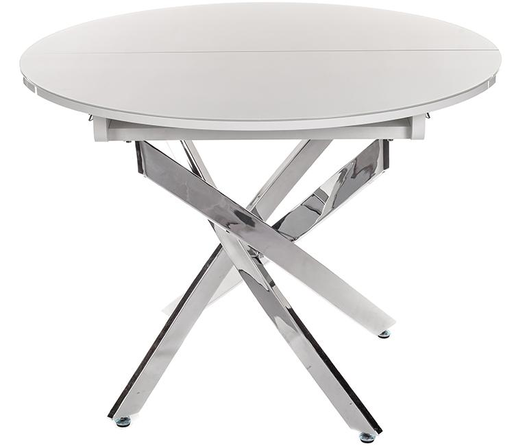 Стол обеденный Виста Онтарио белое стекло/хром