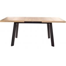 Стол обеденный раскладной Виста Саппоро 85x133(181) см дуб галифакс натуральный/чёрный