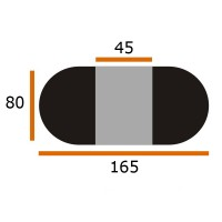 Стол Виста Сидней 80х120 (165) стекло капучино венге