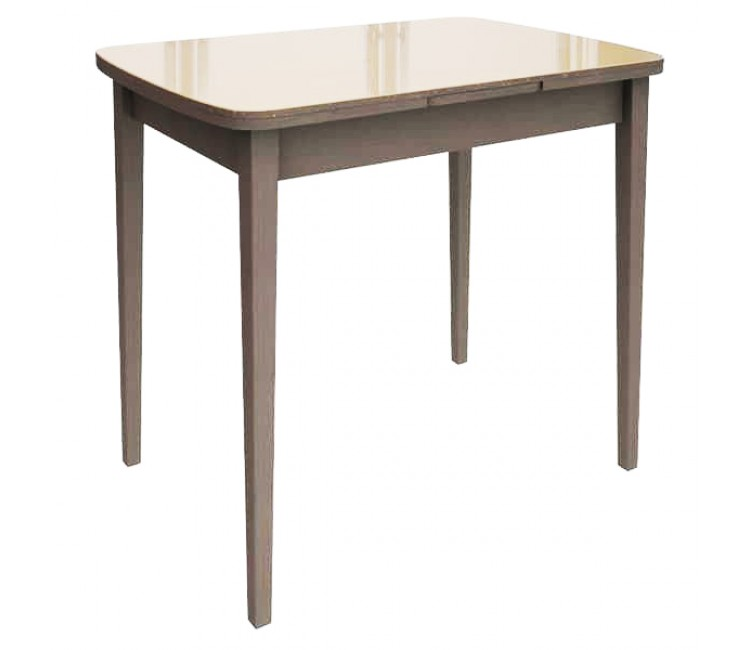 Стол Виста Сиэтл КВ 60х90 (150) стекло капучино венге
