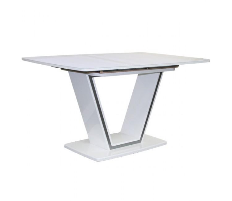 Стол обеденный раздвижной стекляный Виста Ванкувер 90х140 (185) белый